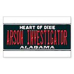 Alabama Arson Investigator Sticker
