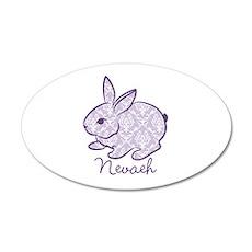 Purple chic bunny Wall Decal