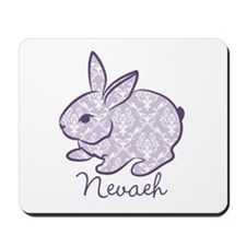 Purple chic bunny Mousepad