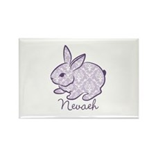 Purple chic bunny Rectangle Magnet