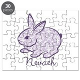 Purple chic bunny Puzzle