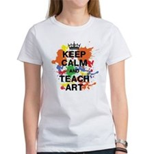 Keep Calm Teach Art T-Shirt