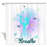 Breathe Yoga Pose Shower Curtain