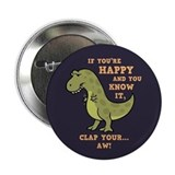 T-Rex Clap II 2.25&quot; Button