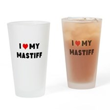 i luv my mastiff Drinking Glass