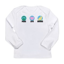 Peace Love Bunnies Long Sleeve T-Shirt