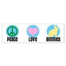 Peace Love Bunnies Bumper Bumper Sticker