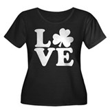LOVE Shamrock Plus Size T-Shirt