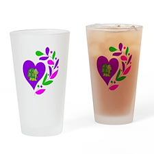 Turtle Heart Drinking Glass