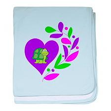 Turtle Heart baby blanket