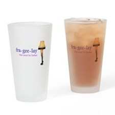 A Christmas Story - fra-gee-lay Drinking Glass