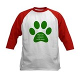dogs are miracles green Baseball Jersey