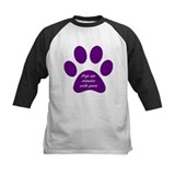 purple dogs are miracles Baseball Jersey