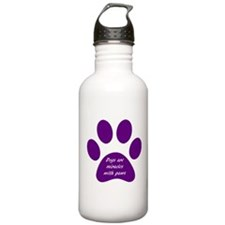 purple dogs are miracles Water Bottle