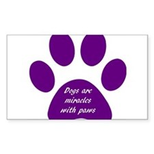purple dogs are miracles Decal