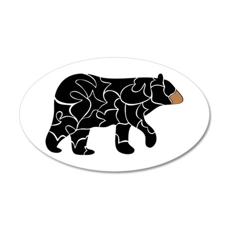Wild - Black bear 20x12 Oval Wall Decal