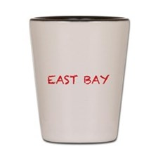 east bay4 red Shot Glass