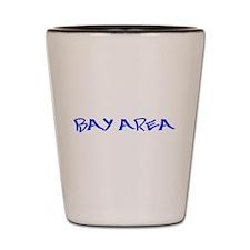 bay area3 blue Shot Glass