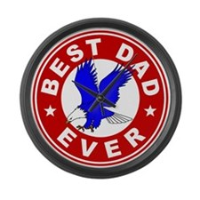 Best Dad Ever Large Wall Clock