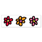 Flower Cut Out Bumper Bumper Sticker