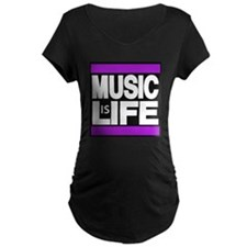 music life purple Maternity T-Shirt