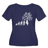 Tree Hugging Women's Plus Size Scoop Neck Dark T-S