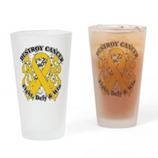 Destroy Childhood Cancer Drinking Glass