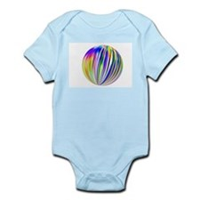 Fractal Striped Ball Body Suit