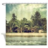 Vintage Beach Photo Shower Curtain