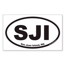San Juan Island WA SJI Euro Oval Decal