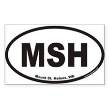 Mount St. Helens MSH Euro Oval Decal
