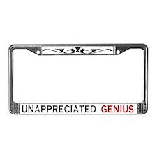 Unappreciated Genius License Plate Frame