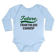 Future Triathlon Champ Long Sleeve Infant Bodysuit