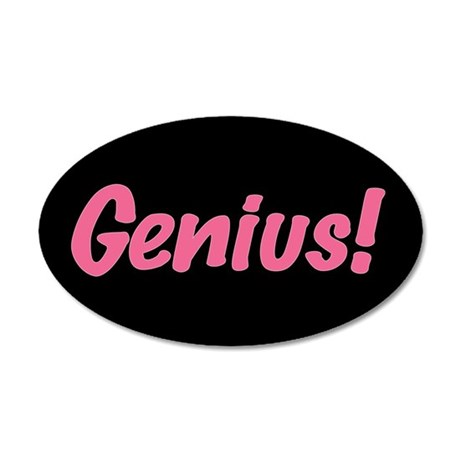 Pink Genius 35x21 Oval Wall Decal