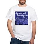 Haunted Mansion Paranormal Investigator Wht TShirt