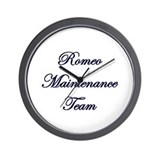 Maintenance Team Wall Clock