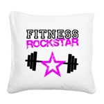 FitnessRockstar.jpg Square Canvas Pillow