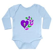 Panda Heart Long Sleeve Infant Bodysuit