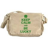 Keep Calm Be Lucky Messenger Bag