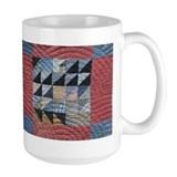 Squares and Triangles Red Coffee Mug