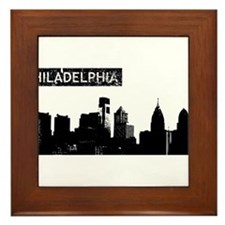 Philadelphia Skyline Framed Tile