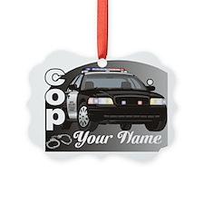 Custom Personalized Cop Ornament