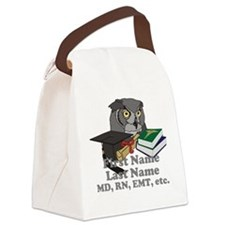 Custom Owl Medical Graduate Canvas Lunch Bag