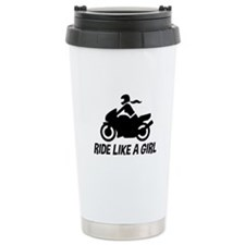 Ride Like A Girl Ceramic Travel Mug