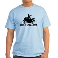 Female Motorcyclist T-Shirt