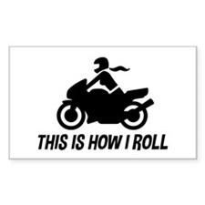 Female Motorcyclist Decal