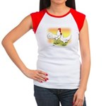 White Leghorn Chickens Women's Cap Sleeve T-Shirt