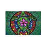 Sea Turtle Painting Rectangle Magnet