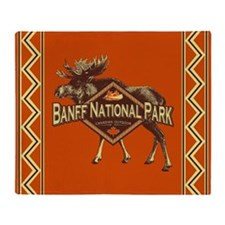 Banff Natl Park Moose Throw Blanket