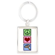Peace Love Bacon Portrait Keychain